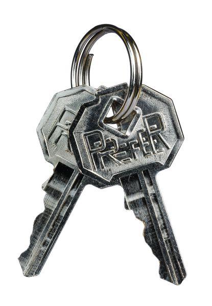 Jeu de 2 clés pour armoire à pharmacie métal 2 portes