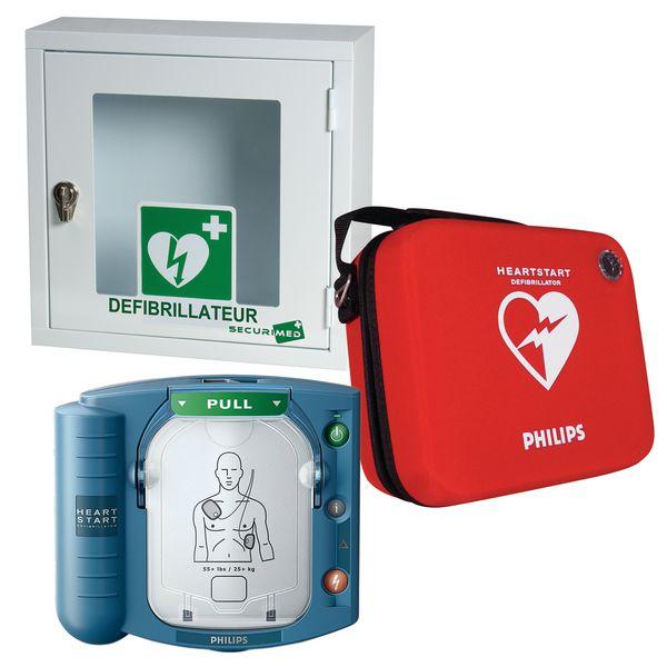 Offre pack défibrillateur HS1 avec housse slim et armoire