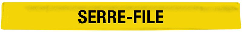 "Brassard auto-enroulant jaune ""Serre-file"""