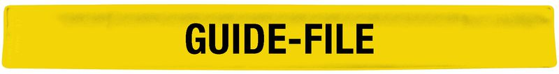 "Brassard auto-enroulant jaune ""Guide-file"""