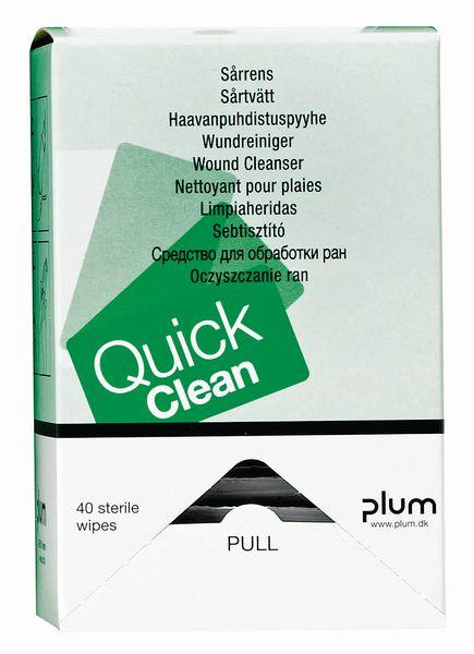 Lingettes eau stérile Quick Clean