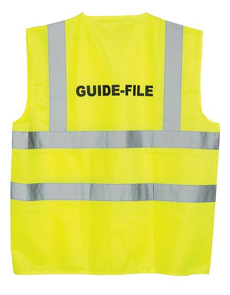 """Gilet de sécurité fluo avec marquage """"Guide-file"""""""