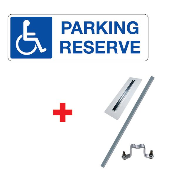 """Kit panneau """"Parking réservé"""" handicapés"""