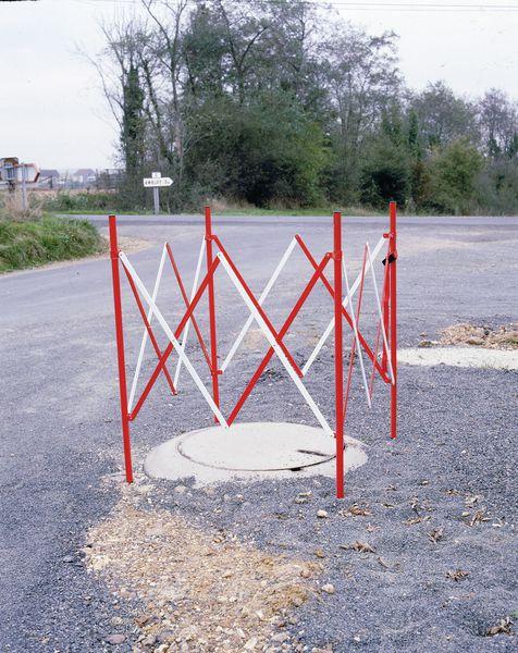 Barrière de chantier carrée extensible