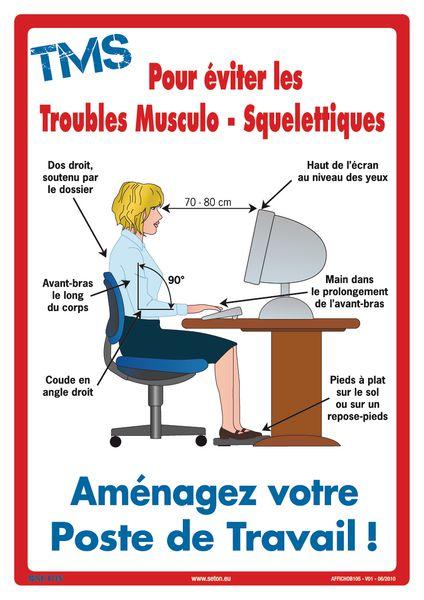 Poster prévention des Troubles Musculo-Squelettiques