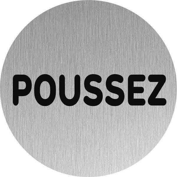 """Plaque de porte """"Poussez"""""""