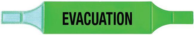Brassards économiques Evacuation