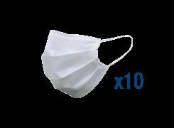 10 masques tissus lavables