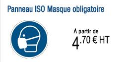 Panneau ISO Masque obligatoire