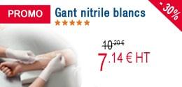 PROMO - Gants nitrile blancs