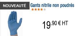NOUVEAUTE - Gants nitrile non poudrés