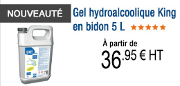 NOUVEAUTE - Gel hydroalcoolique King en bidon 5 L