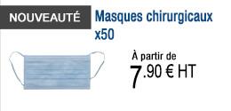 NOUVEAUTE - Masques chirurgicaux x50