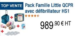 TOP VENTE - Pack Famille Little QCPR avec défibrillateur HS1 Trainer