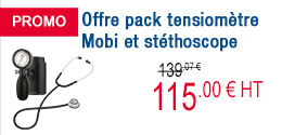 PROMO - Offre pack tensiomètre Mobi et stéthoscope Spengler
