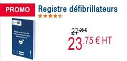 PROMO - Registre défibrillateurs