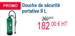 PROMO - Douche de sécurité portative 9 L