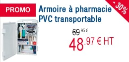 PROMO - Armoire à pharmacie PVC transportable