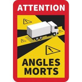 Lot de 5 autocollants angles morts pour camions