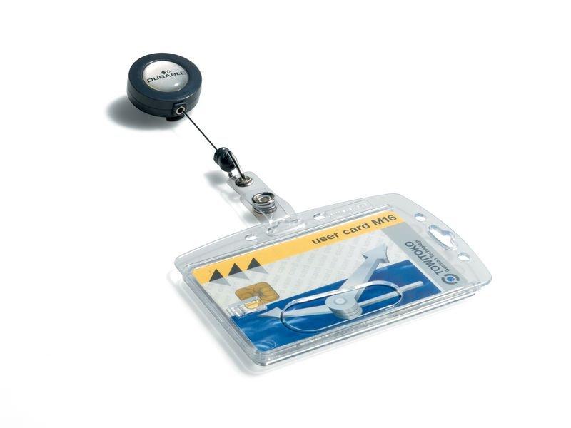 Porte-badge avec clip et enrouleur 80 cm