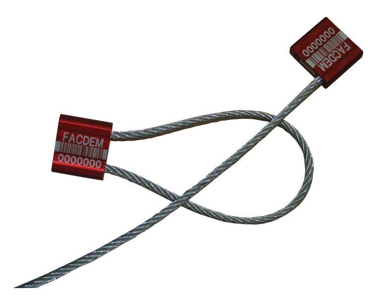 Scellés acier avec câble métal à serrage progressif