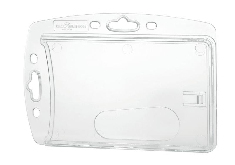 Boîtier rigide porte-badge L 85 x l 54 mm