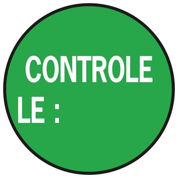 """Pastilles multi-usages gestion de stock """"Contrôlé le"""""""