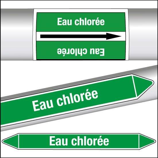 Marqueurs de tuyauterie CLP Eau chlorée