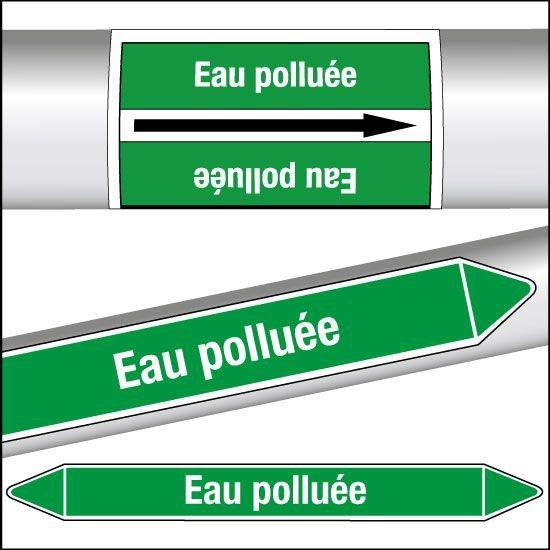Marqueurs de tuyauterie CLP Eau polluée