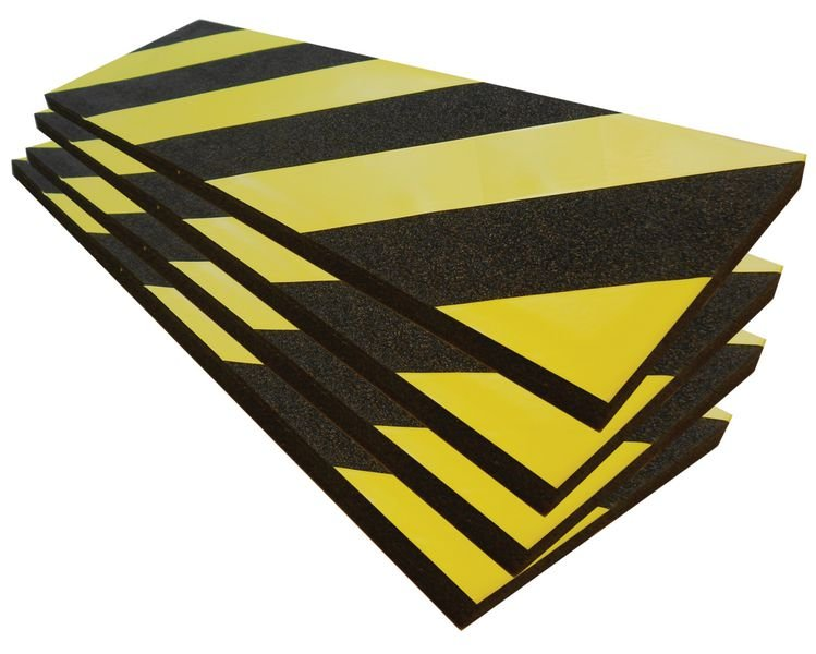 Protection en mousse conformable jaune et noir