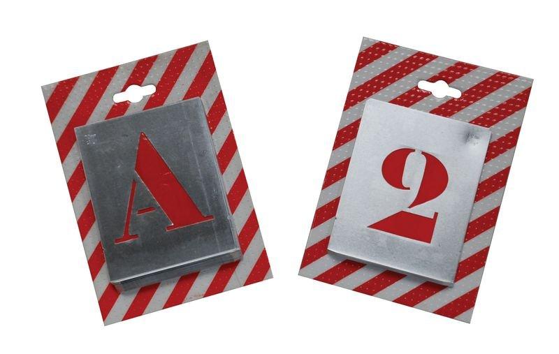 Pochoirs 26 Lettres découpées en métal mince