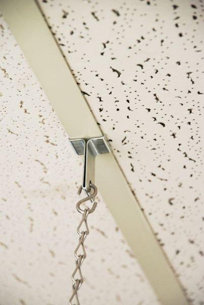 Crochet métal pour faux plafond