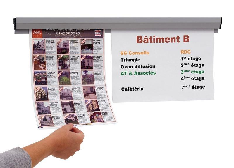 Rails d'affichage muraux par vis ou adhésif