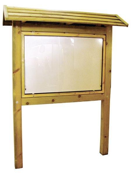 Planimètre avec toiture et vitrine d'affichage