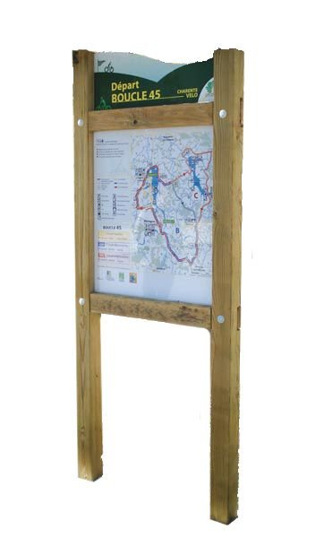 Planimètre bois avec bandeau et panneau