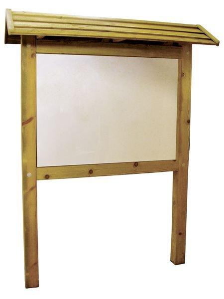 Planimètre bois avec toiture et panneau PVC