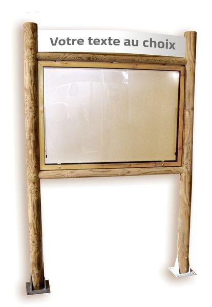 Planimètre bois avec vitrine recto verso et bandeau
