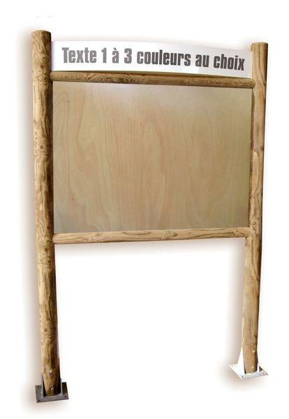 Planimètre bois bandeau droit et panneau contre-plaqué