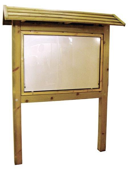 Planimètre Classic bois 950 x 1360mm vitrine recto toit