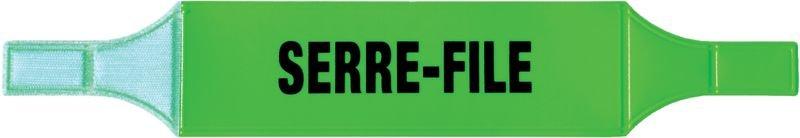 Brassards PVC fluo Serre-file et Guide-file