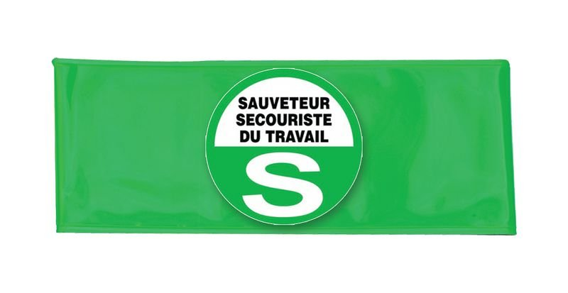 Brassard microprisme vert avec logo SST