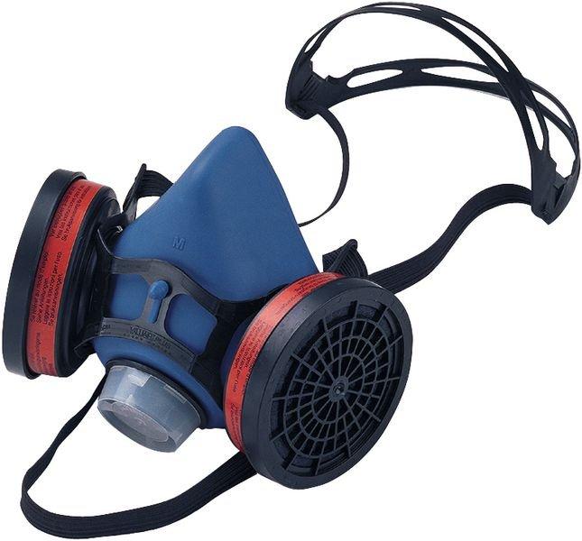 Demi-masque respiratoire bi-filtre