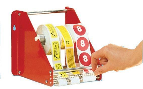 Distributeur d'étiquettes en métal rouge