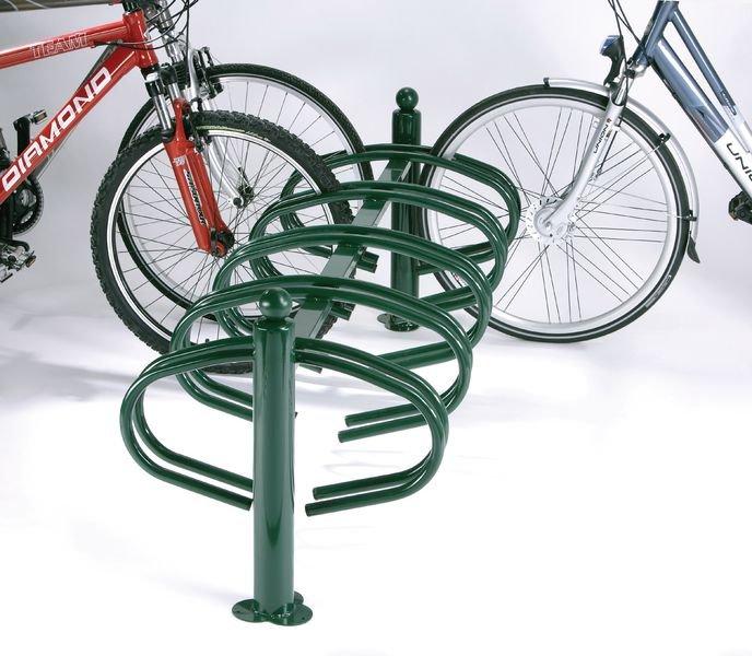 Range vélos sur potelets 10 vélos face à face