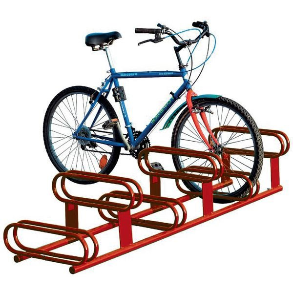 Range vélos au sol 6 vélos 2 niveaux laqué