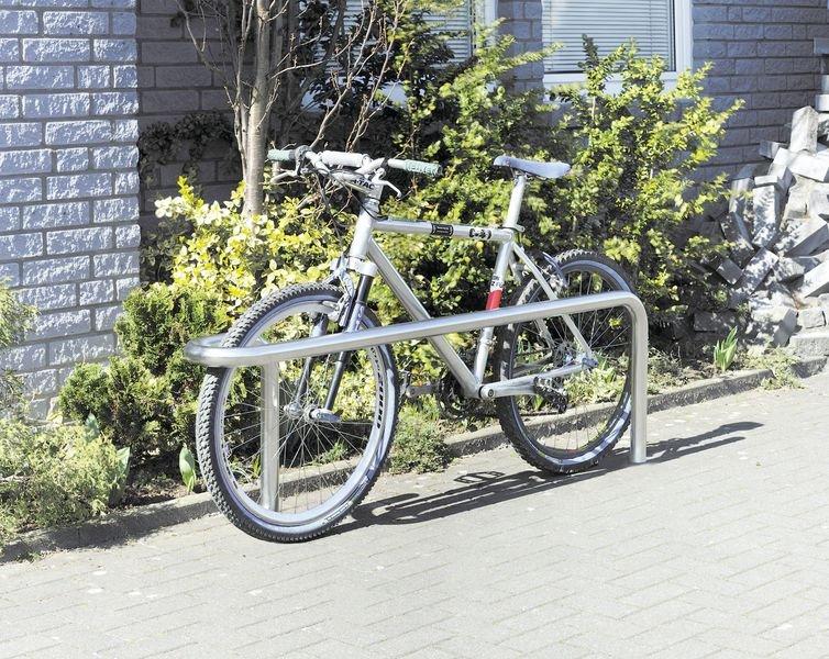 Support cycle en inox brossé