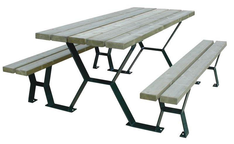 Tables pique-nique en bois et métal
