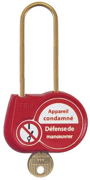 Cadenas de condamnation clé standard anse Ø 6 mm H70 mm