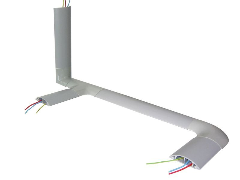 Goulottes de plancher en PVC pour câbles