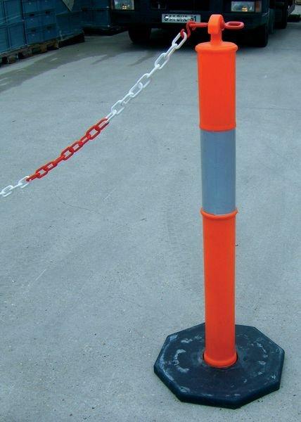 Poteaux PVC rétroréfléchissants